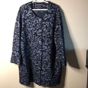 Nanette lepore plus sized long dress coat